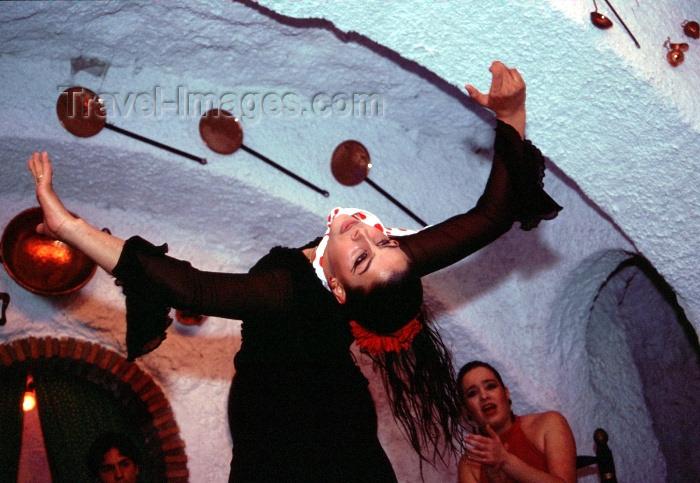 spai184: Spain / España - Granada: Alcaiceria - flamenco dancer - photo by F.Rigaud - (c) Travel-Images.com - Stock Photography agency - Image Bank