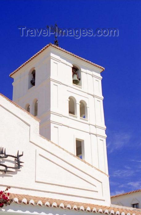 spai197: Spain / España - Arroyo de la Miel  (provincia de Malaga - Costa de Sol): Bell Tower - Parroquia de la Immaculata Concepción - photo by D.Jackson - (c) Travel-Images.com - Stock Photography agency - Image Bank