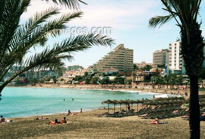 spai202: Spain / España - Benalmádena Costa  (provincia de Malaga - Costa de Sol): Playa de Torre Bermeja - photo by D.Jackson - (c) Travel-Images.com - Stock Photography agency - Image Bank