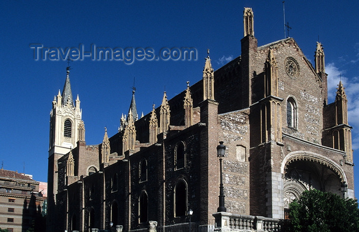 spai218: Madrid, Spain / España: gothic church of San Jerónimo el Real convent - Los Jerónimos, now part of the Museo del Prado complex / iglesia - photo by Y.Guichaoua - (c) Travel-Images.com - Stock Photography agency - Image Bank
