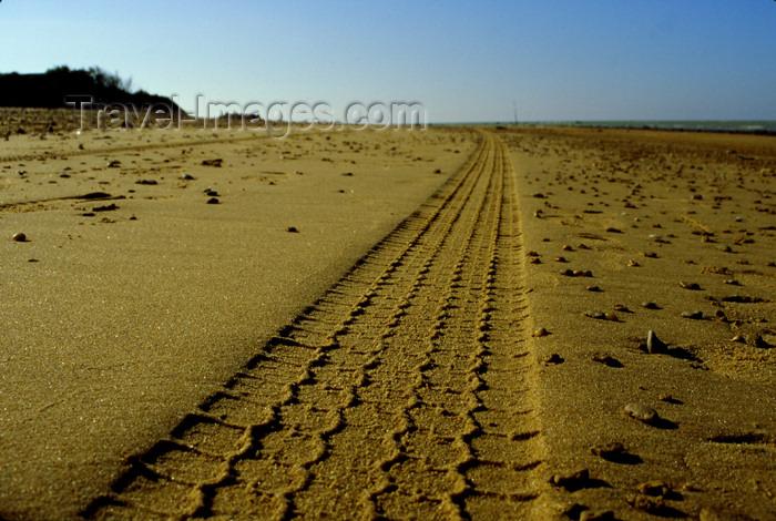 spai280: Spain - Chipiona - Cadiz province - Wheel mark in the sand - photo by K.Strobel - (c) Travel-Images.com - Stock Photography agency - Image Bank