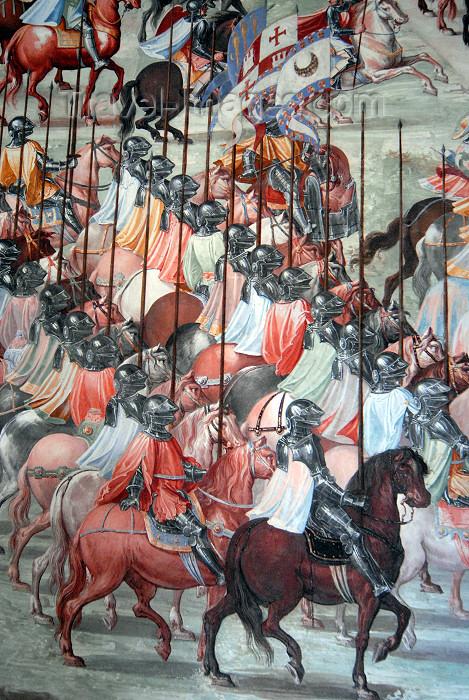 spai333: Spain / España - Spain - San Lorenzo de El Escorial: Royal Monastery of San Lorenzo de El Escorial - gallery of the battles - fresco - Real Monasterio de San Lorenzo de El Escorial - photo by M.Torres - (c) Travel-Images.com - Stock Photography agency - Image Bank