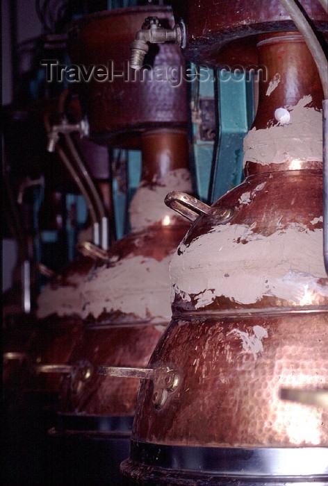 spai409: Spain - Cantabria - Cosgaya - alembic - making aqua vitae - distillation apparatus - photo by F.Rigaud - (c) Travel-Images.com - Stock Photography agency - Image Bank