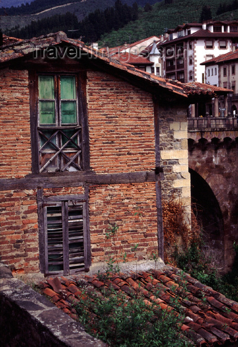 spai420: Spain - Cantabria - Potes - red brick building - photo by F.Rigaud - (c) Travel-Images.com - Stock Photography agency - Image Bank