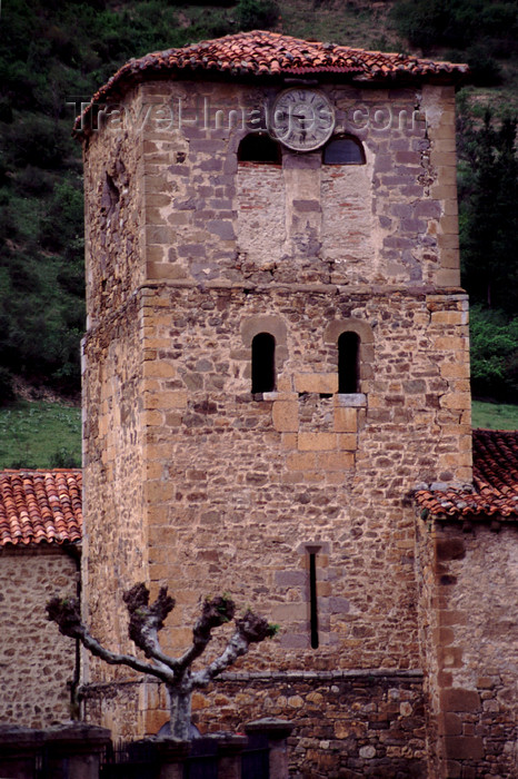 spai421: Spain - Cantabria - Potes - tower - photo by F.Rigaud - (c) Travel-Images.com - Stock Photography agency - Image Bank