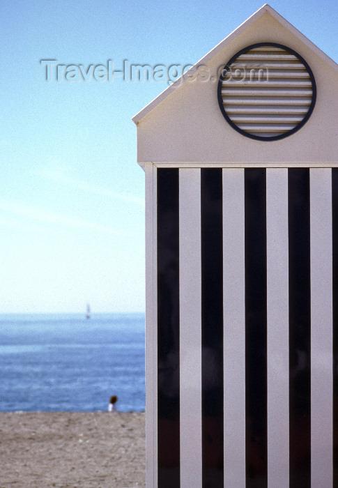 spai425: Spain / España - Salobreña (Granada): beach hut - Costa Tropical - playa - photo by F.Rigaud - (c) Travel-Images.com - Stock Photography agency - Image Bank