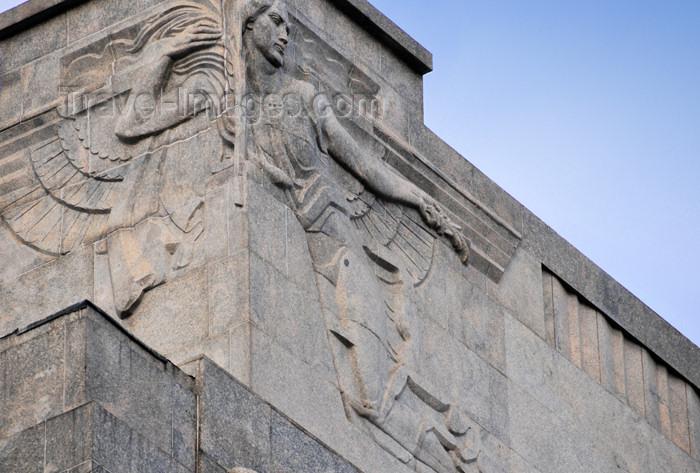 spai456: Madrid, Spain: Calle de Alcalá 45 - Art Deco reliefs on the façade of Edificio del Banco de Vizcaya - photo by M.Torres - (c) Travel-Images.com - Stock Photography agency - Image Bank