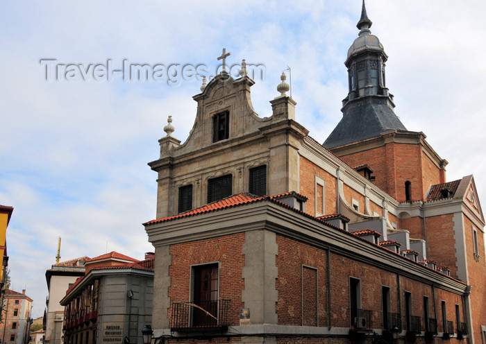 spai460: Madrid, Spain: barroque military church - Iglesia Arzobispal Castrense - Calle Mayor, Calle del Sacramento - photo by M.Torres - (c) Travel-Images.com - Stock Photography agency - Image Bank