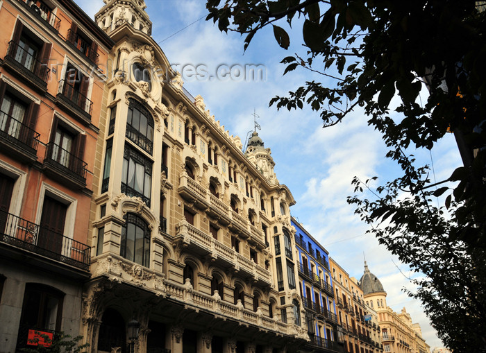 spai465: Madrid, Spain: art nouveau at Calle Mayor 16 - Compañía Colonial building / Conrado Martín, S.A. - by Miguel Mathet Coloma and Jerónimo Pedro Mathet Rodríguez - photo by M.Torres - (c) Travel-Images.com - Stock Photography agency - Image Bank