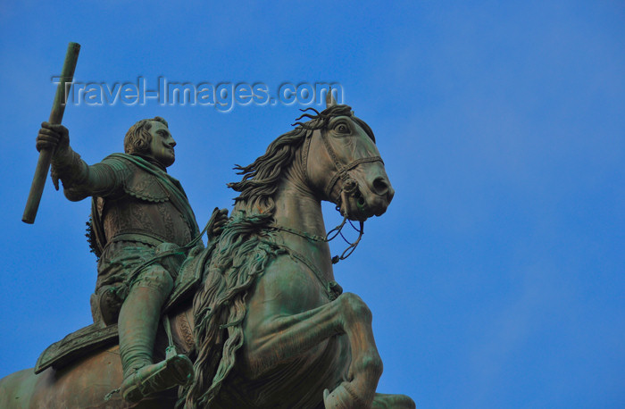 spai471: Madrid, Spain: equestrian statue of Felipe IV by Pietro Tacca - Plaza de Oriente - photo by M.Torres - (c) Travel-Images.com - Stock Photography agency - Image Bank