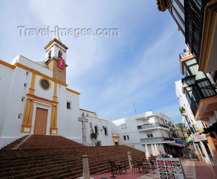 spai476: Ayamonte, Huelva, Andalucia, Spain: Church of Our Lady of Sorrows and Calle de las Angustias - Iglesia de Nuestra Señora de las Angustias - photo by M.Torres - (c) Travel-Images.com - Stock Photography agency - Image Bank