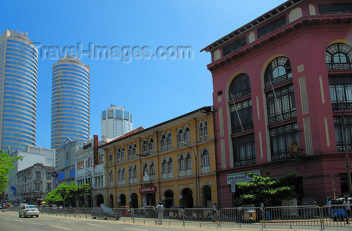 sri-lanka177: Colombo, Sri Lanka: old and new - York St. - looking South towards the  WTC and BOC skyscrapers - Sporting Times, Turf Accountants - Fort - photo by M.Torres - (c) Travel-Images.com - Stock Photography agency - Image Bank