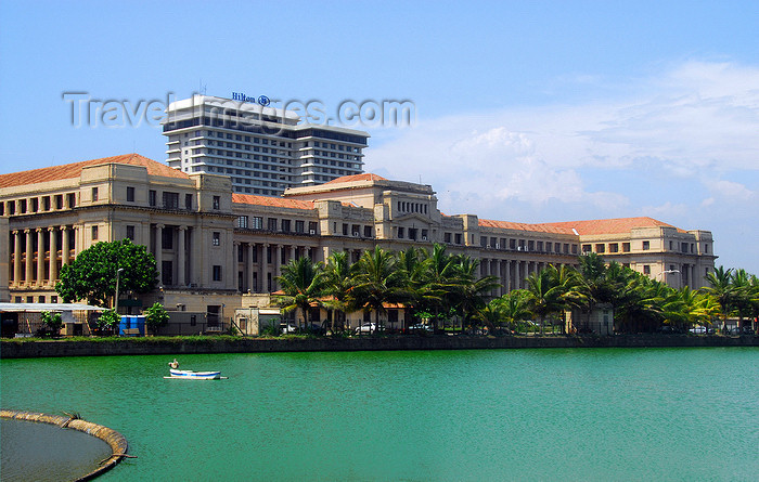 sri-lanka186: Colombo, Sri Lanka: Hilton Hotel and the Ministry of Finance / Treasury, facing Beira Lake - Fort - photo by M.Torres - (c) Travel-Images.com - Stock Photography agency - Image Bank
