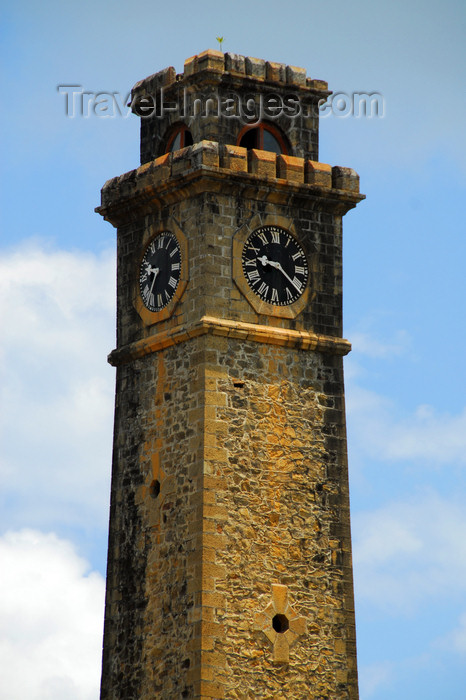 sri-lanka234: Galle, Southern Province, Sri Lanka: clock tower - built in 1881, during British times, in memory of Dr. pieter Daniel Antonisz - MD and Mayor, a Dutch Burgher - Old Town - UNESCO World Heritage Site - photo by M.Torres - (c) Travel-Images.com - Stock Photography agency - Image Bank