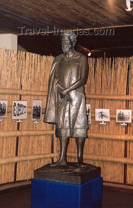 swaziland7: Swaziland - Lobamba: King Sobuza II statue and photo gallery - National Museum - photo by Miguel Torres - (c) Travel-Images.com - Stock Photography agency - Image Bank