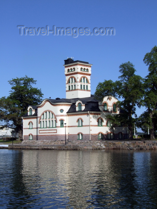 sweden101: Vastervik, Kalmar län, Sweden: Tourist Office buiding by the water - Baltic Sea-  photo by A.Bartel - (c) Travel-Images.com - Stock Photography agency - Image Bank