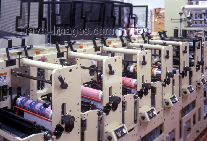 sweden133: Boras, Vastra Gotaland County, Sweden - label printing press - photo by A.Bartel - (c) Travel-Images.com - Stock Photography agency - Image Bank