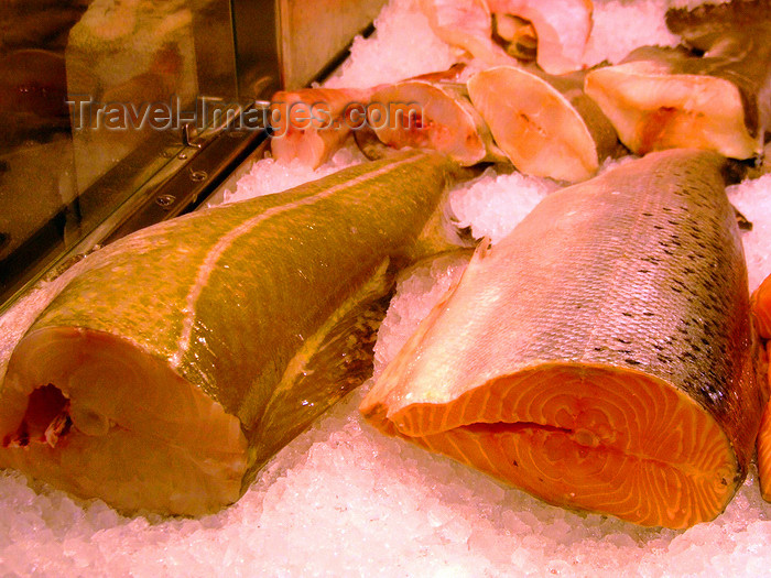 sweden159: Stockholm, Sweden: Codfish and Salmon at Salu Hall - photo by M.Bergsma - (c) Travel-Images.com - Stock Photography agency - Image Bank