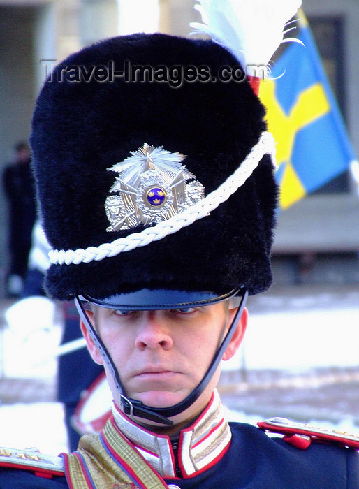 sweden160: Stockholm, Sweden: royal guard next to the Royal Palace - photo by M.Bergsma - (c) Travel-Images.com - Stock Photography agency - Image Bank