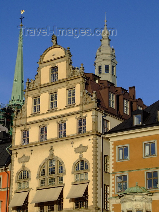 sweden63: Sweden - Stockholm: façade in Kornhamnstorg square - Gamla Stan (photo by M.Bergsma) - (c) Travel-Images.com - Stock Photography agency - Image Bank
