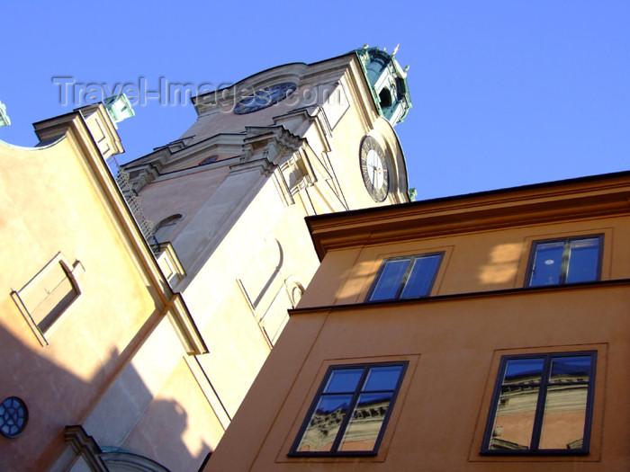 sweden71: Sweden - Stockholm: Store Kyrkan church overlooking Gamla Stan (photo by M.Bergsma) - (c) Travel-Images.com - Stock Photography agency - Image Bank