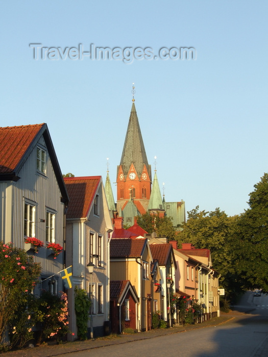sweden98: Vastervik, Kalmar län, Sweden: houses and St. Petri Church - photo by A.Bartel - (c) Travel-Images.com - Stock Photography agency - Image Bank