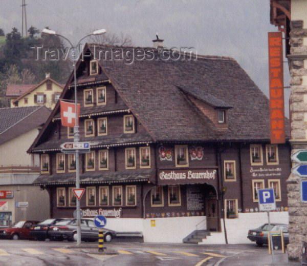switz12: Switzerland / Suisse / Schweiz / Svizzera - Arth Goldau (Luzern canton): mountain lodging - Gasthaus Bauernhof (photo by Miguel Torres) - (c) Travel-Images.com - Stock Photography agency - Image Bank