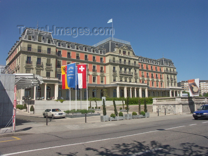 switz154: Switzerland / Suisse / Schweiz / Svizzera - Geneva / Genève / Genf / Ginevra / GVA: Palais Wilson - houses the United Nations High Commissioner for Human Rights / UNHCHR - rue des Pâquis - quai Wilson - photo by C.Roux - (c) Travel-Images.com - Stock Photography agency - Image Bank