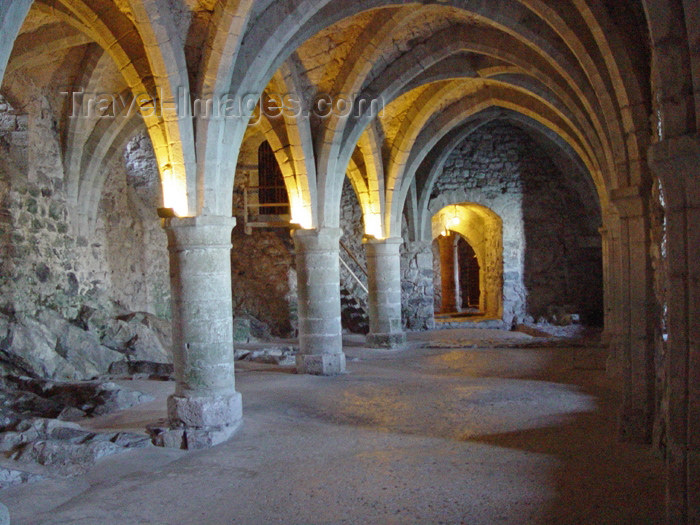 switz176: Switzerland - Suisse - Montreux: Chateau de Chillon - vaulted room (photo by Christian Roux) - (c) Travel-Images.com - Stock Photography agency - Image Bank