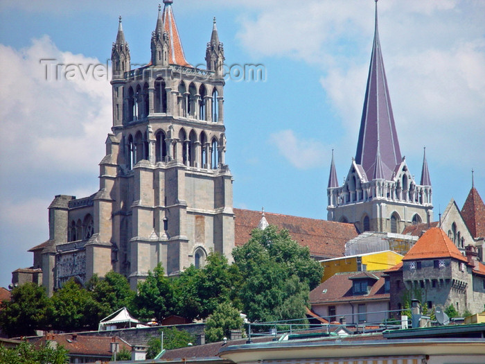 switz184: Switzerland - Suisse - Lausanne: Notre-Dame Cathedral - photo by C.Roux - (c) Travel-Images.com - Stock Photography agency - Image Bank