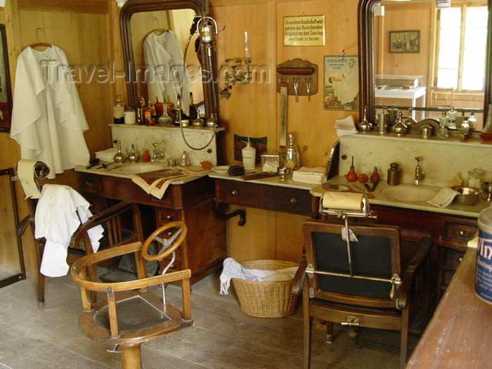 switz219: Ballenberg - open air museum: hairdresser / coiffeur - photo by C.Roux - (c) Travel-Images.com - Stock Photography agency - Image Bank
