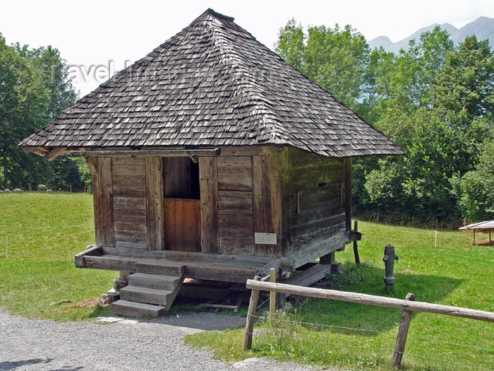 switz223: Ballenberg - open air museum: cheese manufacture barn - Bern / grenier a fromage - photo by C.Roux - (c) Travel-Images.com - Stock Photography agency - Image Bank