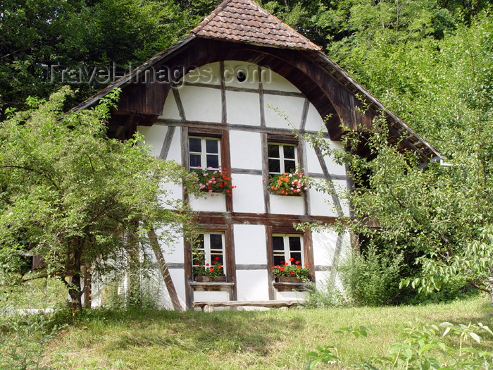 switz225: Ballenberg - open air museum: house - façade / habitation - photo by C.Roux - (c) Travel-Images.com - Stock Photography agency - Image Bank