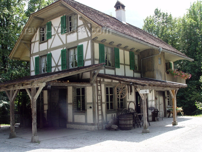 switz229: Ballenberg - open air museum: iron works - 19th century - Bern / forge - photo by C.Roux - (c) Travel-Images.com - Stock Photography agency - Image Bank