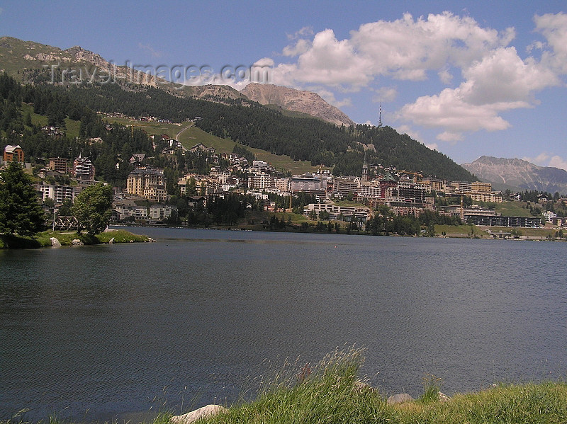 switz330: Switzerland - St Moritz / Sogn Murezzi - Graubünden / Grigioni canton - town and lake San Murezzan - Engadine valley - photo by J.Kaman - (c) Travel-Images.com - Stock Photography agency - Image Bank