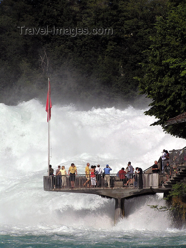 switz338: Switzerland - Neuhausen am Rheinfall - Schaffhausen canton - Waterfalls observation platform - Rheinfall - photo by J.Kaman - (c) Travel-Images.com - Stock Photography agency - Image Bank