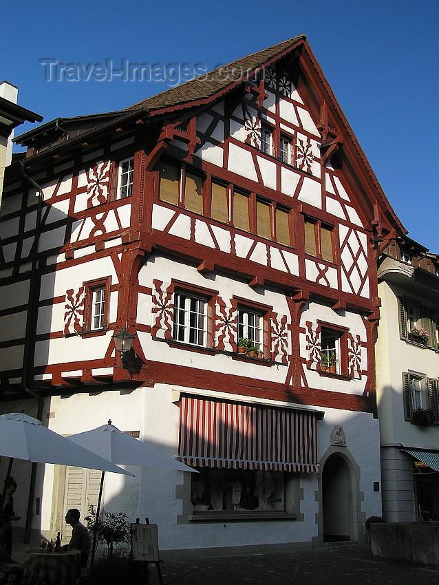 switz339: Switzerland - Stein am Rhein - canton of Schaffhausen: half-timbered house - photo by J.Kaman - (c) Travel-Images.com - Stock Photography agency - Image Bank