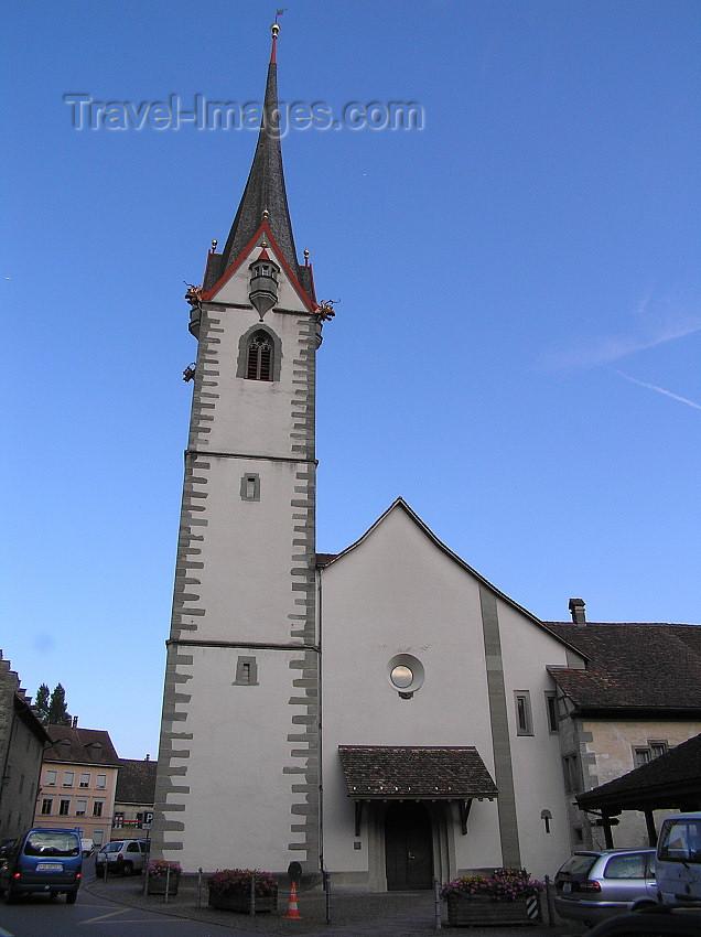 switz345: Switzerland - Stein am Rhein - canton of Schaffhausen: city church - Stadtkirche - photo by J.Kaman - (c) Travel-Images.com - Stock Photography agency - Image Bank