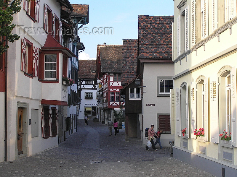 switz349: Switzerland - Stein am Rhein - canton of Schaffhausen: street scene - photo by J.Kaman - (c) Travel-Images.com - Stock Photography agency - Image Bank