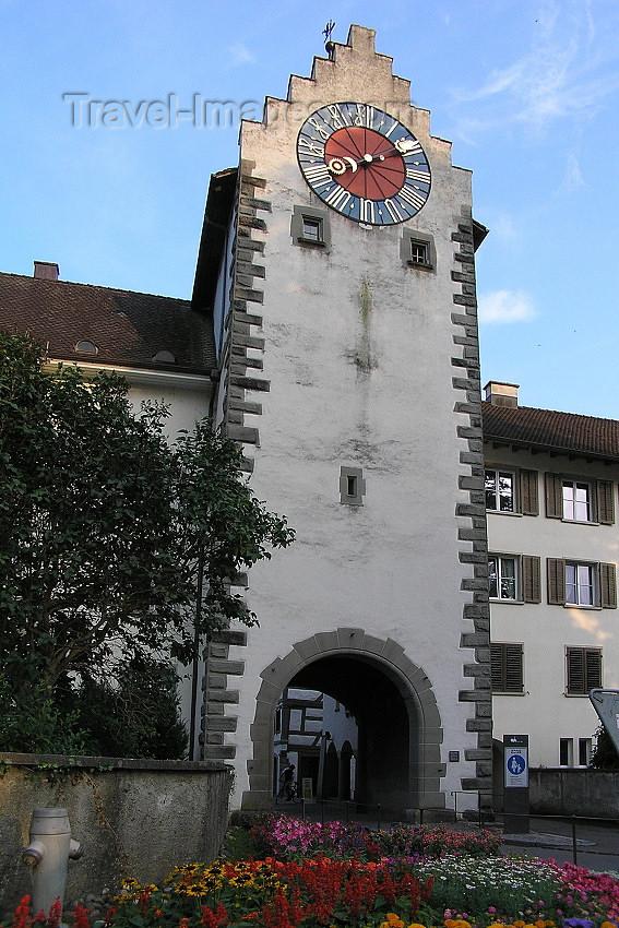 switz351: Switzerland - Stein am Rhein - canton of Schaffhausen: the Untertor (lower gate) or Zeitturm (time tower) - photo by J.Kaman - (c) Travel-Images.com - Stock Photography agency - Image Bank