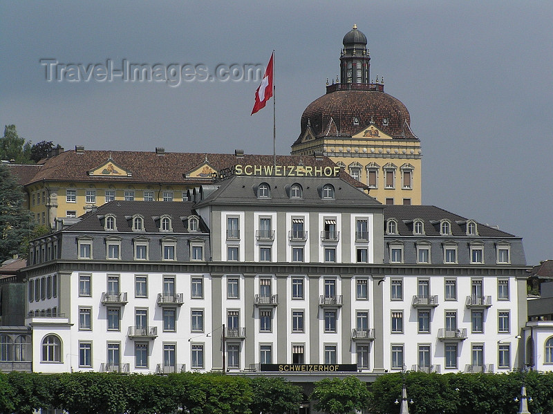 switz352: Switzerland - Luzern / Lucerne: Hotel Schweizerhof Luzern - Schweizerhofquai - photo by J.Kaman - (c) Travel-Images.com - Stock Photography agency - Image Bank