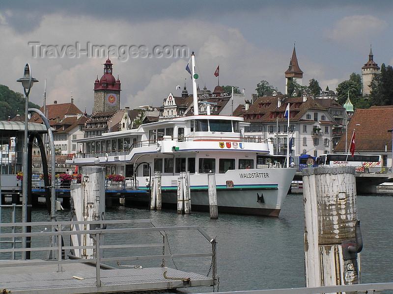 switz353: Switzerland - Luzern / Lucerne: boat - photo by J.Kaman - (c) Travel-Images.com - Stock Photography agency - Image Bank