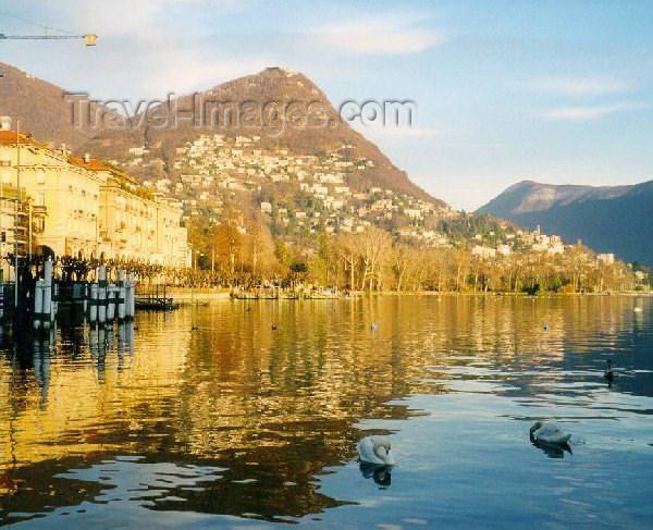 switz6: Switzerland - Lugano (Ticino canton): Lakeside - Lago Tessino (photo by M.Torres) - (c) Travel-Images.com - Stock Photography agency - Image Bank