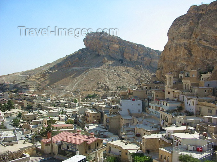 syria115: Syria - Maalula: town built under the cliffs - photographer: D.Ediev - (c) Travel-Images.com - Stock Photography agency - Image Bank