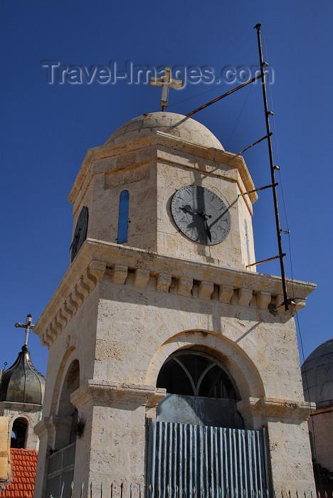 syria117: Syria - Seydnaya / Sednaya / Saidnaya: Orthodox Nunnery - clock tower - photographer: M.Torres - (c) Travel-Images.com - Stock Photography agency - Image Bank