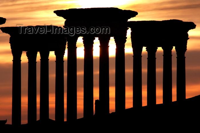 syria177: Syria - Palmyra: Tetrapylon - sunset - photo by J.Wreford - (c) Travel-Images.com - Stock Photography agency - Image Bank