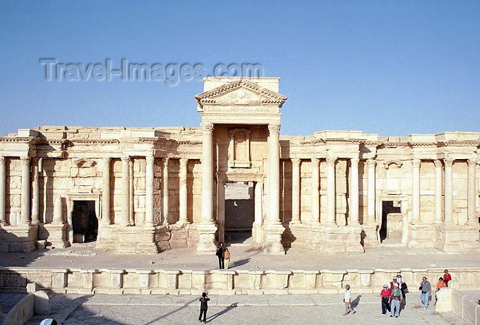 syria20: Syria - Palmyra / Tadmor / PMS: Theatre - stage area - photo by J.Kaman - (c) Travel-Images.com - Stock Photography agency - Image Bank