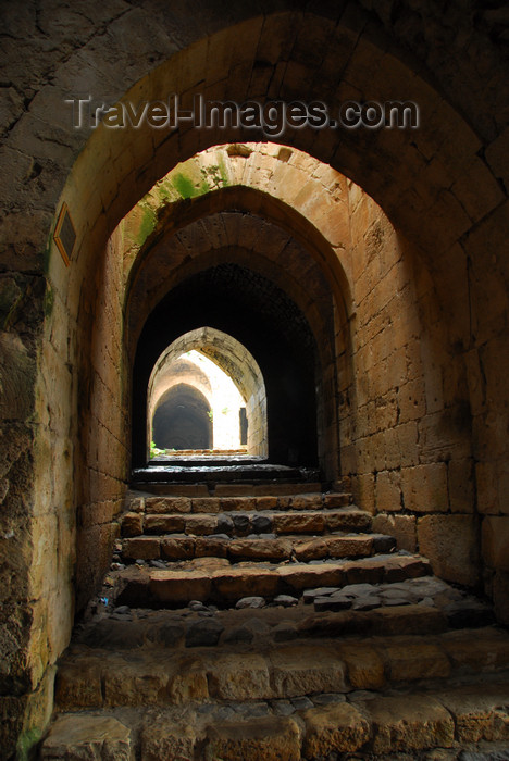 syria205: Crac des Chevaliers / Hisn al-Akrad, Al Hosn, Homs Governorate, Syria: passage in the outer walls - UNESCO World Heritage Site - photo by M.Torres /Travel-Images.com - (c) Travel-Images.com - Stock Photography agency - Image Bank