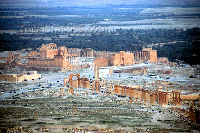 syria211: Palmyra / Tadmor, Homs governorate, Syria: general view - seen from the castle - UNESCO world heritage - photo by M.Torres / Travel-Images.com - (c) Travel-Images.com - Stock Photography agency - Image Bank