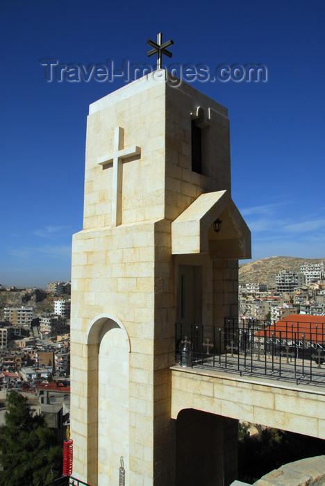 syria238: Saidnaya / Seydnaya - Rif Dimashq governorate, Syria: Holy Patriarchal Convent of Our Lady of Saidnaya - lift tower - photo by M.Torres / Travel-Images.com - (c) Travel-Images.com - Stock Photography agency - Image Bank